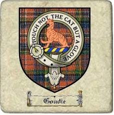Goudie Clan Badge Marble Tile