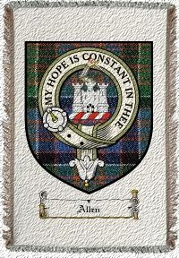 Allen Clan Badge Throw Blanket