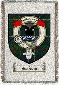 Macnicoll Clan Badge Throw Blanket