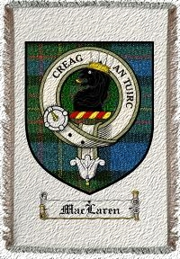 Maclaren Clan Badge Throw Blanket