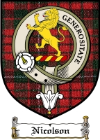 Nicolson Clan Badge / Tartan FREE preview