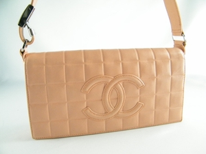 Authentic Chanel Pink Cube Lambskin Leather Handbag Bag Purse (CLEARANCE) (SOLD!)