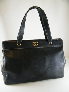 JUMBO! Authentic Chanel Black Executive Cerf Caviar Leather Bag Tote (SOLD!)