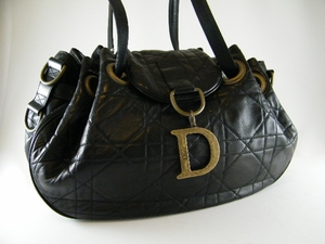 $2750 New Authentic CHRISTIAN DIOR Large Cannage Black Bag (SOLD!)