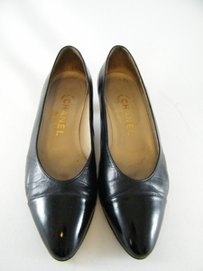 Authentic Chanel Black Leather Heels Shoes (Clearance)