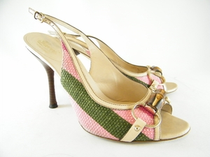 Authentic Gucci Horsebit Bamboo Leather Heels Sling Back Shoes (Clearance) (SOLD!)