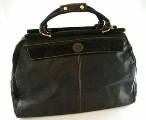 Authentic Fendi Black Suede Luggage Tote Travel Bag (CLEARANCE) (SOLD!)