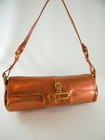 Authentic Jimmy Choo Orange Crackled Leather Bag (Clearance) (Sold!)