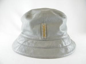 568e523d $201- $500 - Authentic Louis Vuitton Cup Gray Leather Hat