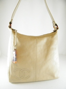 RARE! Authentic Beautiful $1600 Chanel Beige Leather Bag (SOLD!)
