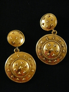 Authentic Chanel Gold All American Stars Dangling Clip on Earrings