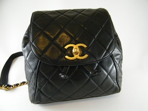 Authentic CHANEL Black Diamond Quilted Backpack Bag (CLEARANCE) (SOLD!)