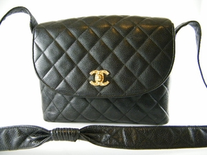 Authentic Chanel Black Diamond Quilted Diamond Classic Flap Lambskin Leather Handbag Bag Purse (CLEARANCE) (SOLD!)