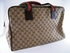 Authentic Gucci Signature Brown Canvas Duffle Bag Tote Travel Luggage (SOLD!)