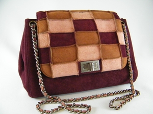 Authentic Chanel Accordian Flap Suede Burgundy Purse (SOLD!)