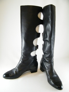 HOT! AUTHENTIC CHANEL BUCKLE BLACK TALL BOOTS (SOLD!)