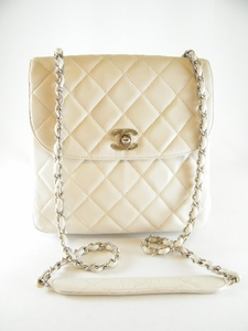 Vintage Gorgeous Auth Off White Chanel Quilted Flap Bag (SOLD!)