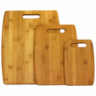 Eco-Friendly Bamboo Cutting Boards - 3-Piece Set