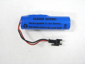 Gama Sonic Replacement Battery - for GS-98, GS-99 and GS-106 Series Lamps - Lithium Ion