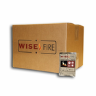 Wise Fire - Instant Fire Wood Pellets for Emergency Preparedness Kits - 1 Box - Individually Wrapped - Equivalent to 1 Gallon