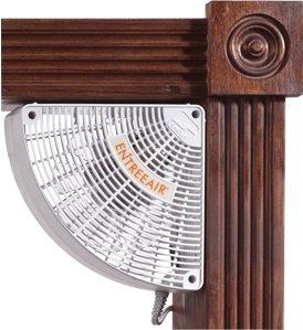 EntreeAir Door Frame Fan By Suncourt - White or Brown Available