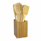 7-Piece Bamboo Cooking Utensil Set - with Holder