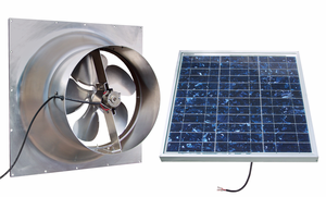 Gable mounted solar attic fan 30 watts 2500 sq ft for Solar panels for 2500 sq ft home