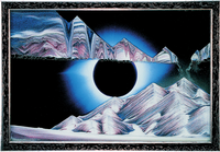 Rainbow Vision Hand Made Sand Art Picture - Corona