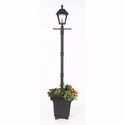 Baytown Outdoor Solar Lamp Post and Planter Pot