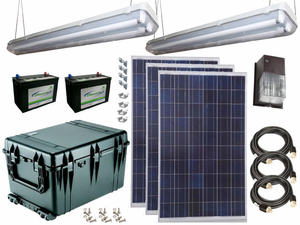 Earthtech Products Solar Power & Lighting Kit for Sheds, Garages & Remote Cabins - 290 Amps
