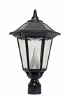 """Windsor Solar Lamp with 12 LEDs  - Fits Existing 3"""" Post"""
