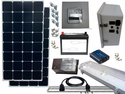 Solar Power & Lighting Kit for Sheds, Garages & Remote Cabins - 85 Amps