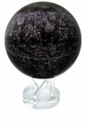 "Mova Globe - 8.5"" Rotating Globe - Silver Blue Earth"