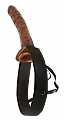 Fetish Fantasy Hollow Strap-On 10in Chocolate Dream