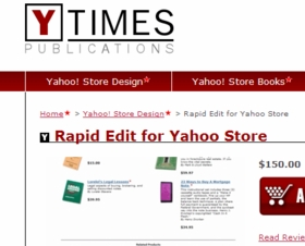 Rapid Edit for Yahoo Store - Click to enlarge