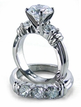 Annuci 1.5 Carat Round Cubic Zirconia Wedding Set