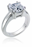Addison 2.5 Carat Princess Cut Cubic Zirconia Split Double Prong Solitaire Engagement Ring