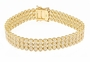 Rio Trio Bezel Set Round Cubic Zirconia Three Row Flexible Bracelet