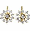Euro Suisse Wire Bezel Set Round Cubic Zirconia Earrings