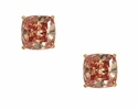 1.5 Carat Each Cubic Zirconia Cushion Cut Simulated Cognac Diamond Stud Earrings