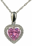 LaRue Halo Pendant 1.5 Carat Heart Cubic Zirconia Necklace