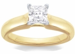 1 Carat Princess Cut Cubic Zirconia Silky Solitaire Engagement Ring