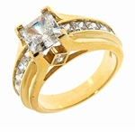 Huntington 1.5 Carat Princess Cut Cubic Zirconia Channel Set Solitaire Engagement Ring