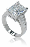 Elenor 5.5 Carat Cubic Zirconia Channel Set Baguette Solitaire Engagement Ring
