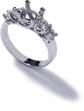 Fancy Cubic Zirconia Luccia Trellis Setting Solitaire Engagement Rings