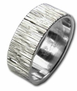 Guilloche Hand Engraved Comfort Fit Unisex Wedding Bands