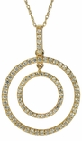 Aurelius Prong Set Round Cubic Zirconia Double Circle Pendant
