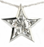 Super Star Kite Cut Cubic Zirconia Channel Set Pendant
