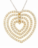 Endless Love Pave Set Round Heart Cubic Zirconia Pendant