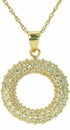 Domed Circle of Love Pave Set Round Cubic Zirconia Pendant